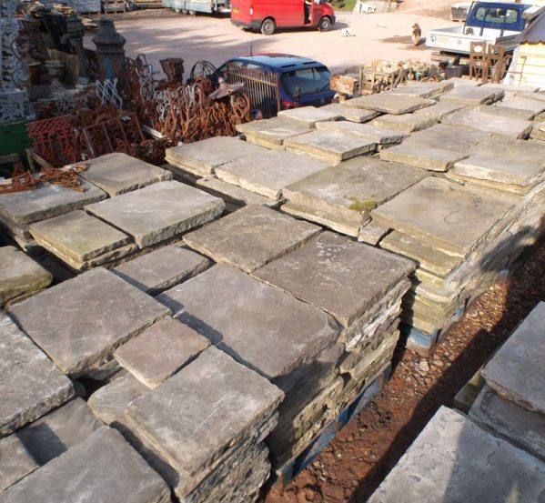 Reclaimed York Stone Paving