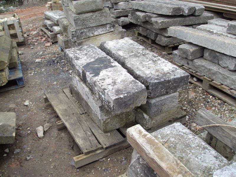 French limestone steps