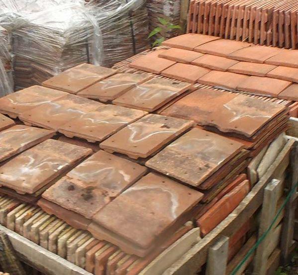 reclaimed concrete roof tiles
