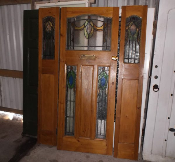 Reclaimed Leaded Light Front Door