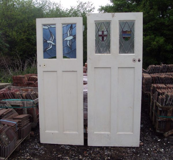 Reclaimed Doors with Stained Glass