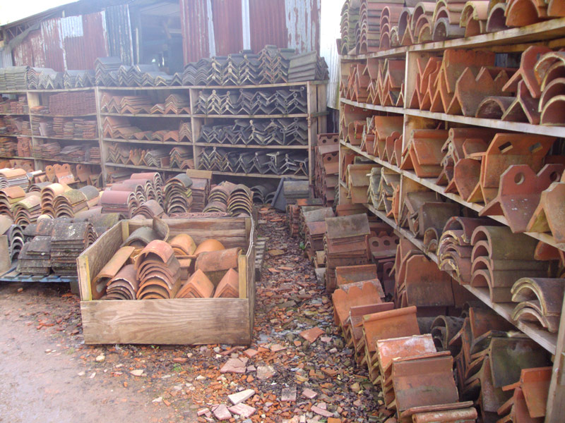 Handmade and Machine Made Ridge Tiles in Stock