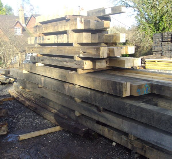 Seasoned oak beams from Authentic Reclamation