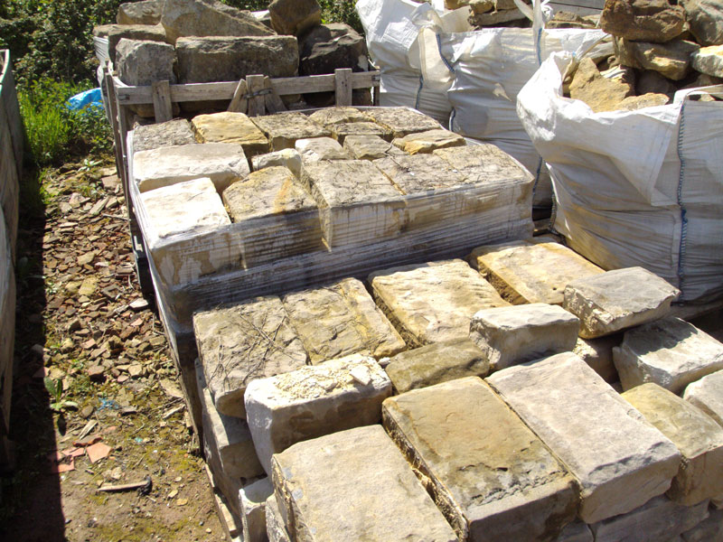 pitched face dressed Sussex sandstone