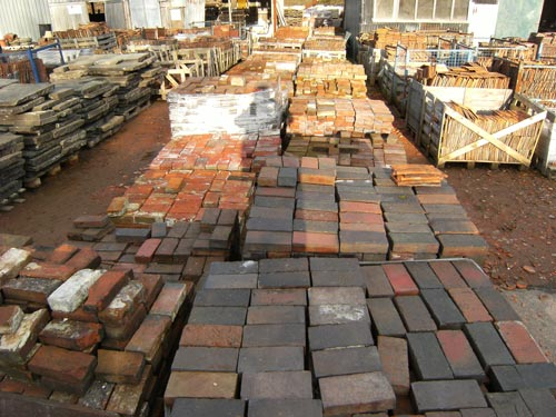 hand made Victorian paving bricks