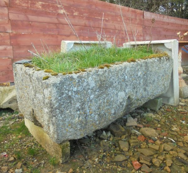 large reclaimed Cornish granite trough