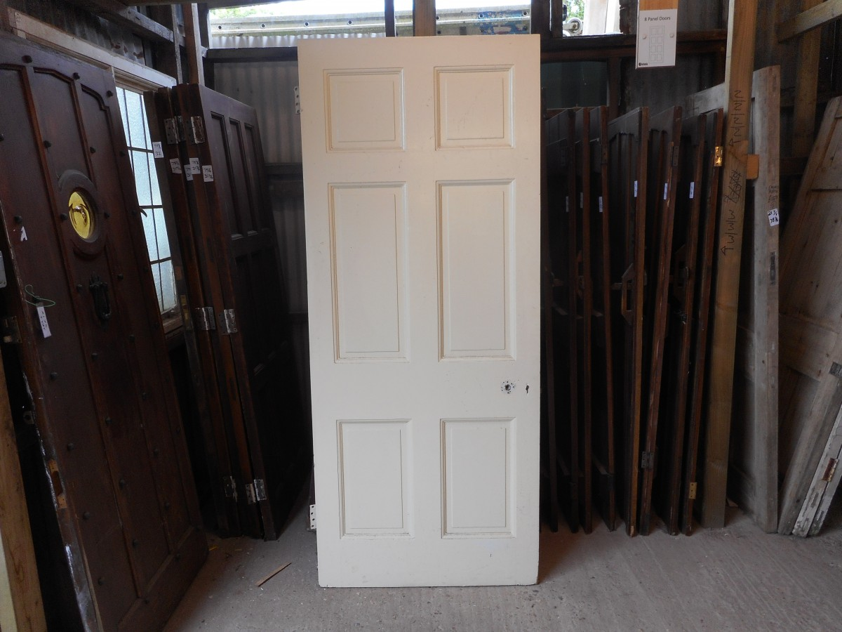 white 6 panelled reclaimed door