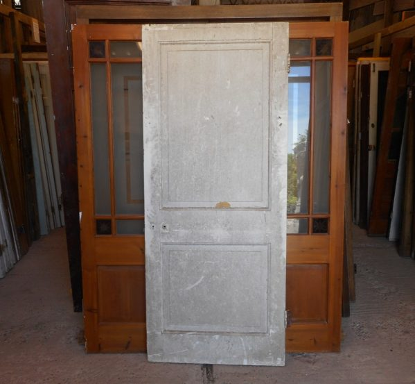 Georgian 2 panel 1 over 1 style reclaimed door