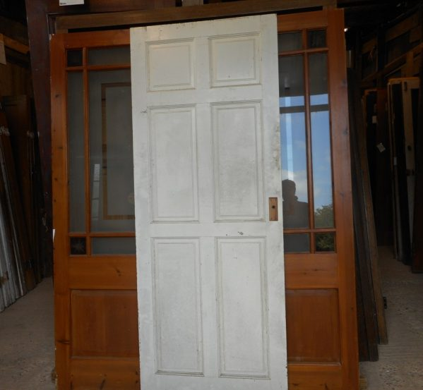 white reclaimed Georgian 6 panel door
