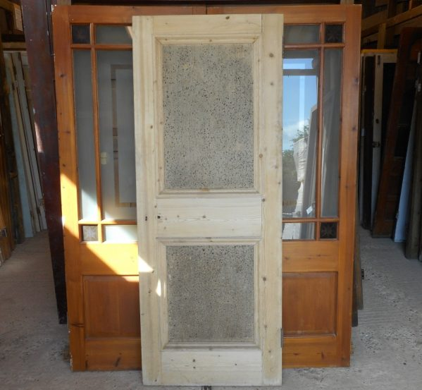 2 panel wooden reclaimed door