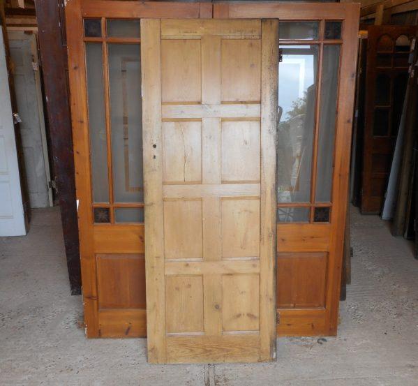 8 panel reclaimed wooden door