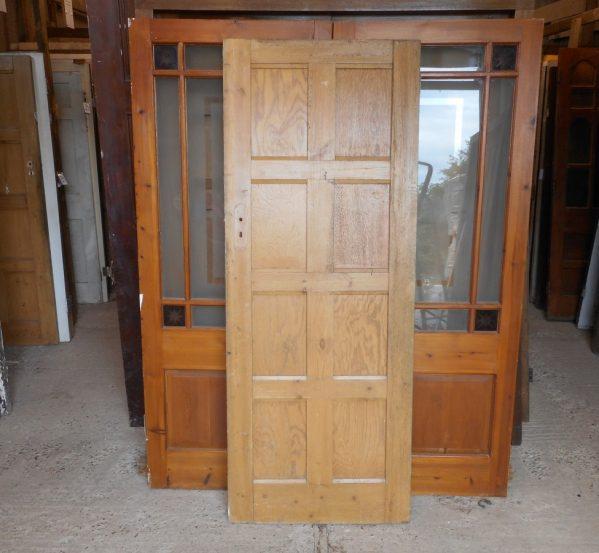 reclaimed half painted 8 panel door