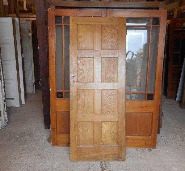 wooden 8 panel door