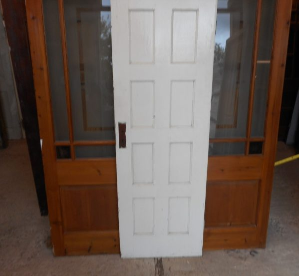 white 8 panelled reclaimed door