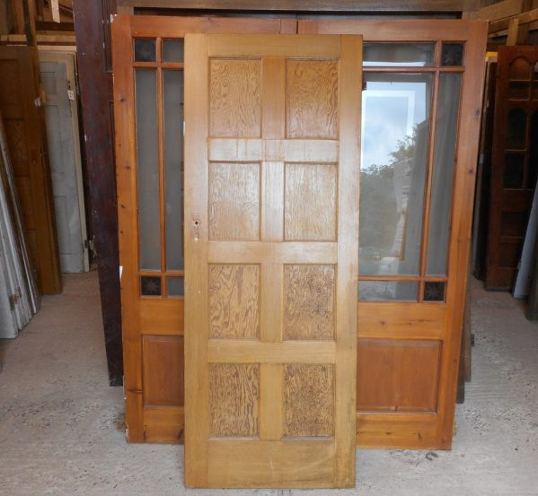 salvaged 8 panelled door