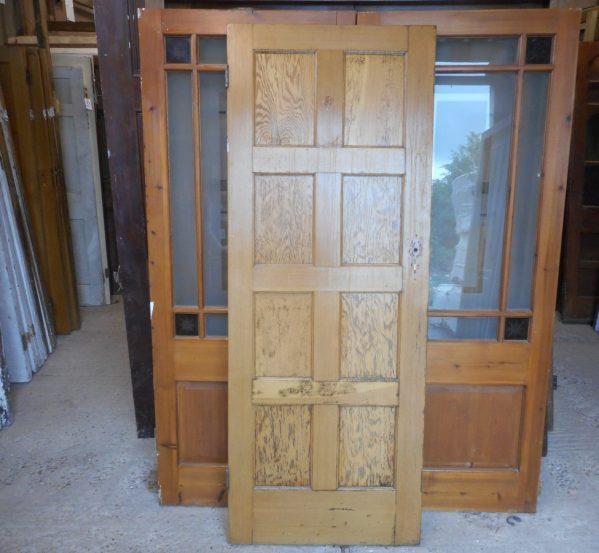 8 panelled wooden door