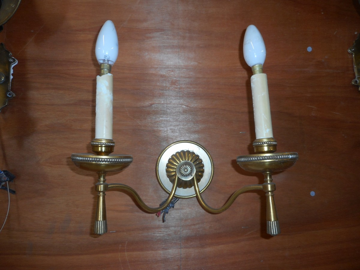 Reclaimed Brass Hall Light