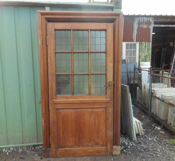 large glazed oak door with frame