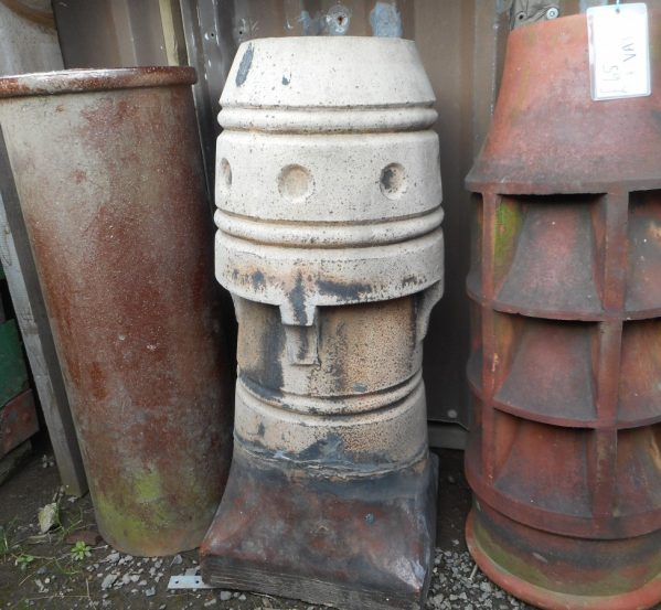 Reclaimed Decorative Buff Chimney Pot