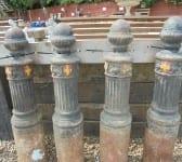 Mid 20th century cast iron bollards