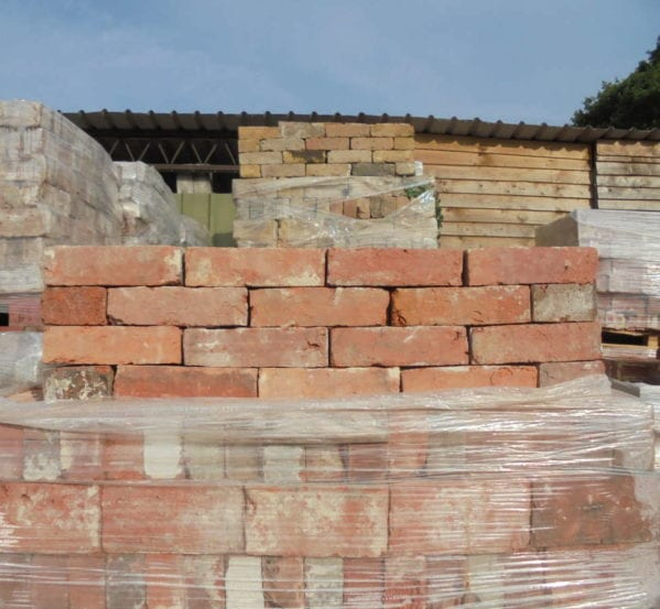 Handmade Red Bricks With A Pink Tinge