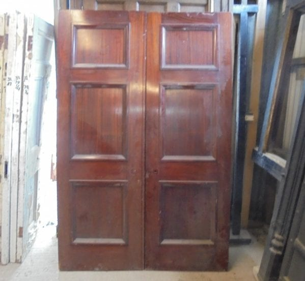 Pair of mahogany double doors