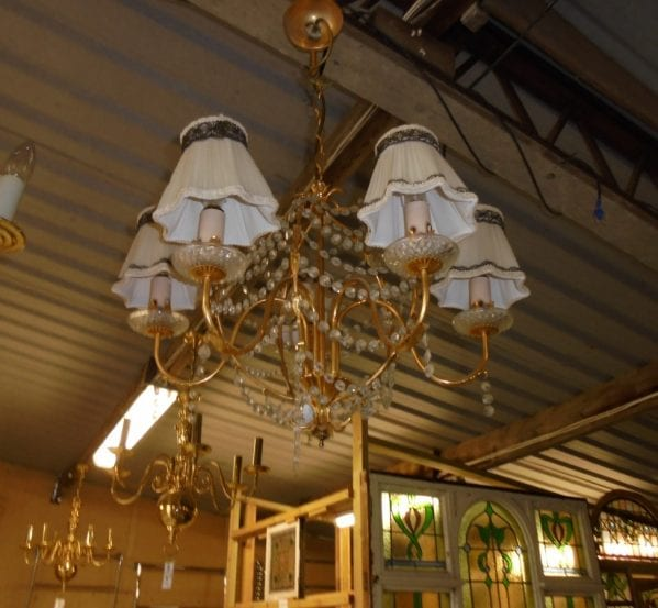 Reclaimed Hanging Light with Shades