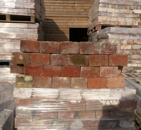 Reclaimed Red Header Bricks