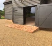 Barn conversion using reclaimed products