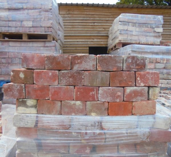Red Reclaimed Header Bricks