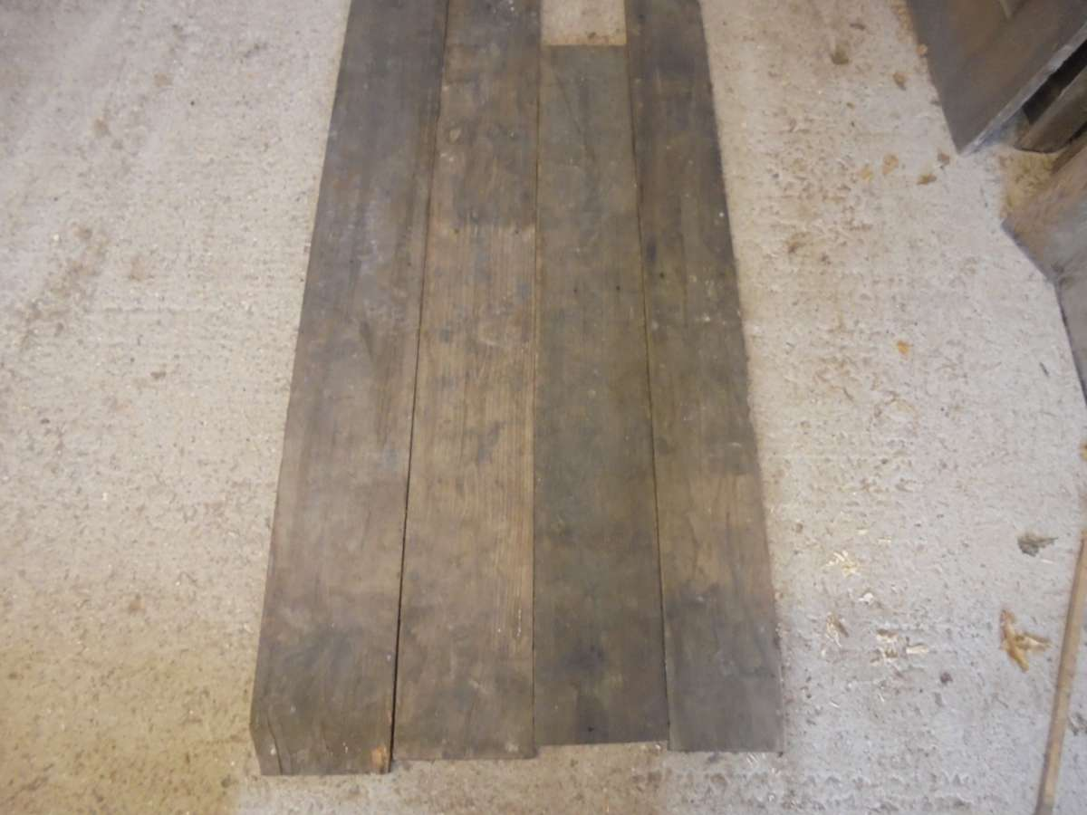 small batch of reclaimed oak floorboards