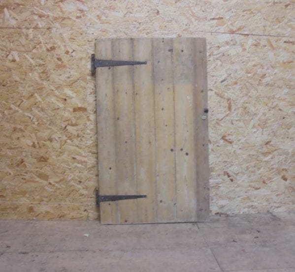 salvaged ledge style cupboard door