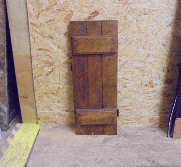 Small Salvaged Ledge Cupboard Door