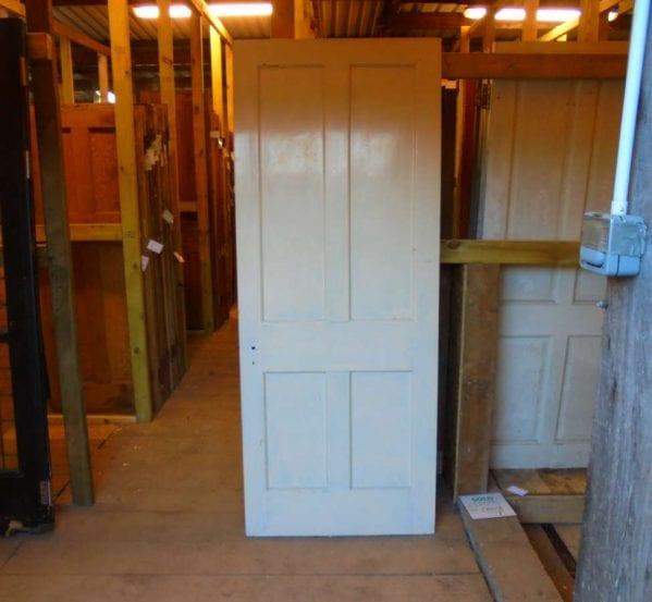 reclaimed 4 panel door with beading