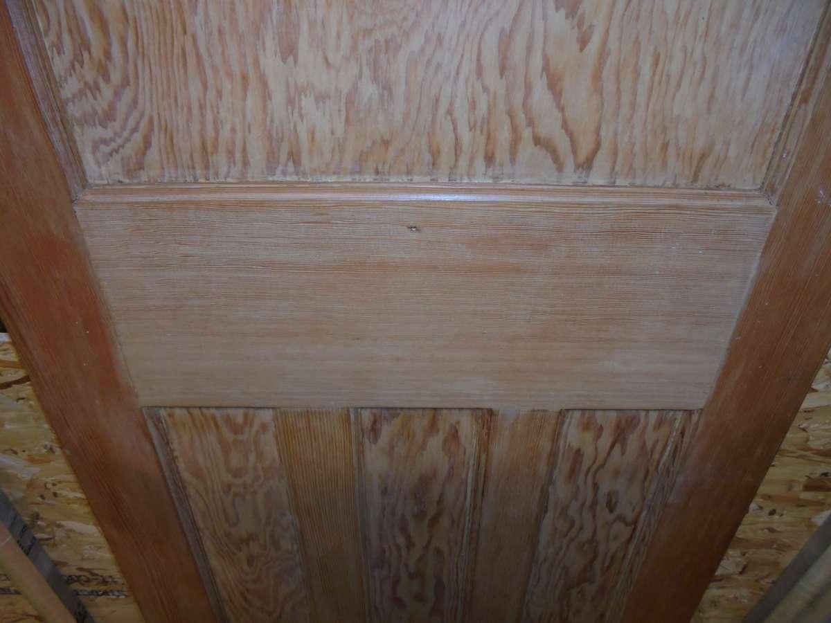 reclaimed varnished 1930s 1 over 3 panel door