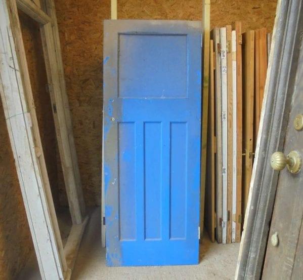 reclaimed painted 1 over 3 panel door