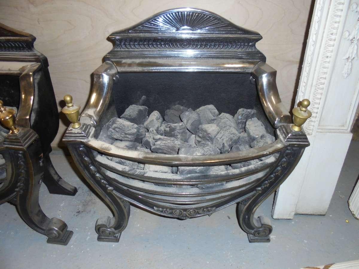 Reclaimed Polished Steel Fire Baskets