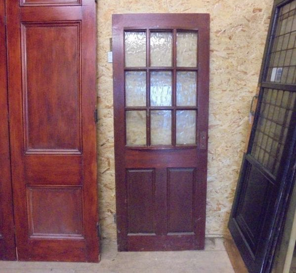 reclaimed modern half glazed door