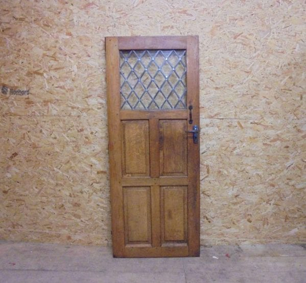 reclaimed half glazed oak door