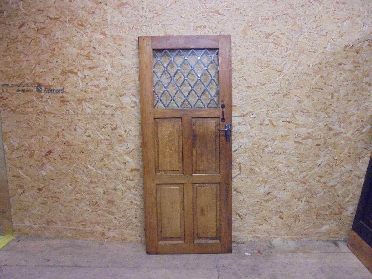reclaimed half glazed oak door