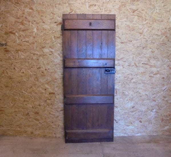 reclaimed and varnished ledged door