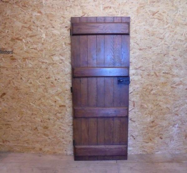 reclaimed varnished ledged door
