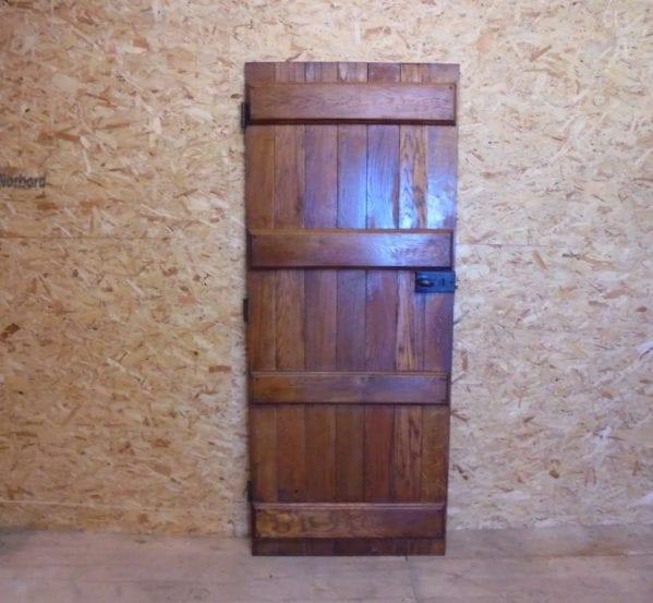 a reclaimed ledge door