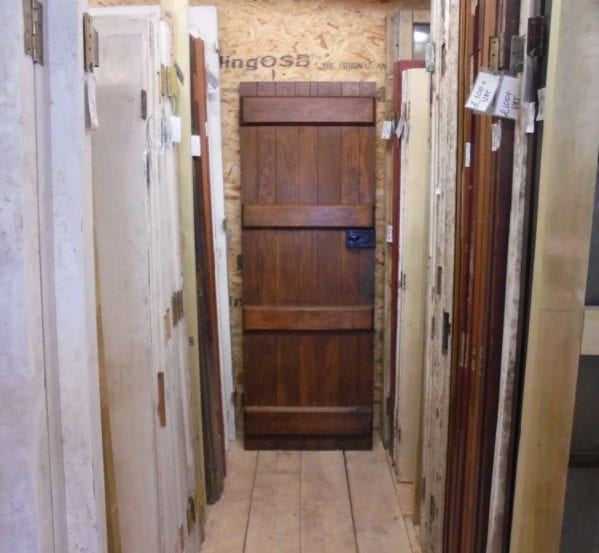 reclaimed stripped ledged door