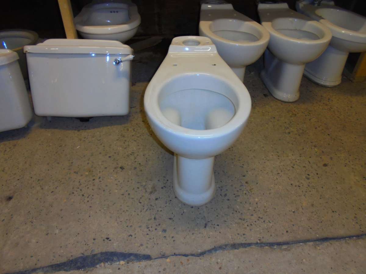 a salvaged toilet