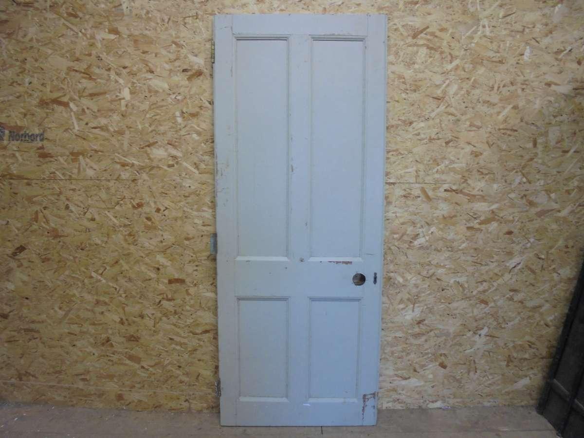 Reclaimed Blue 4 Panel Door