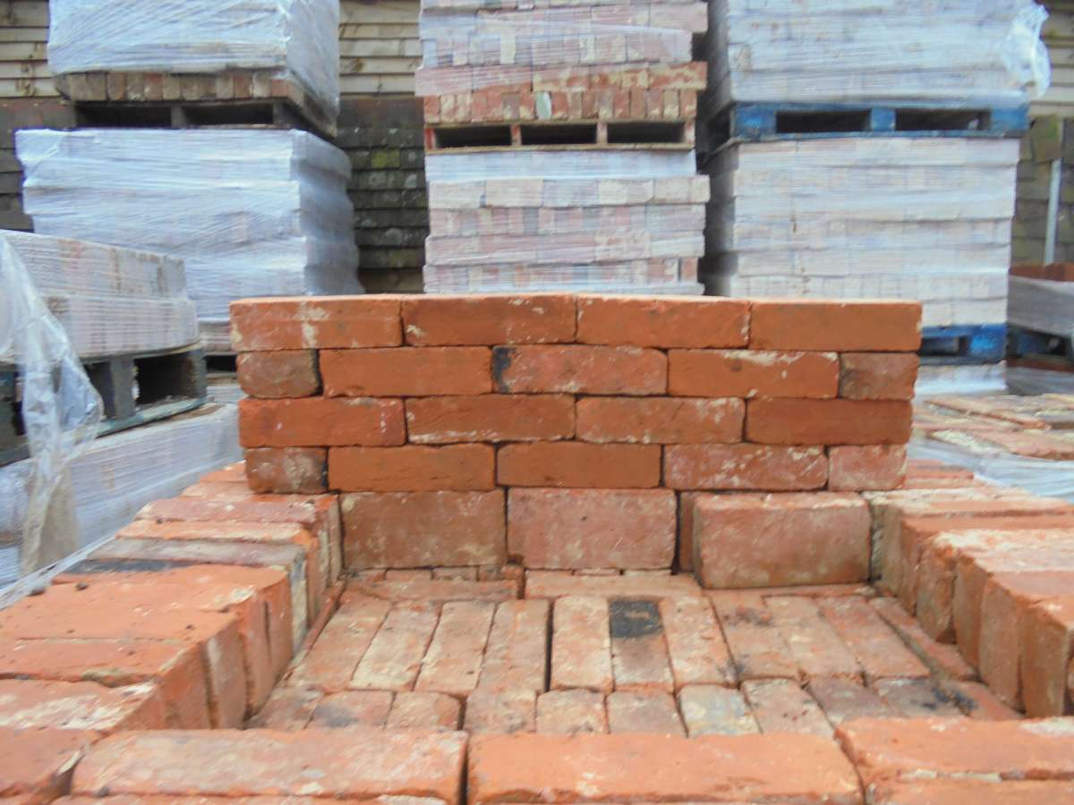 handmade orange red bricks