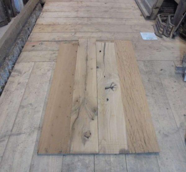 rustic re-milled oak floorboards