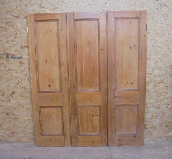 reclaimed tri fold door set