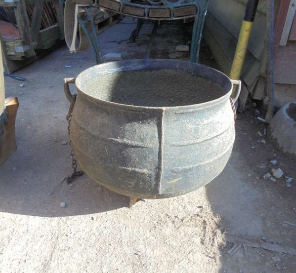 antique cauldron